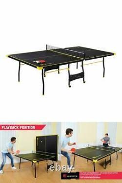 Ping Pong Table Tennis Pliant Taille Énorme Jeu Jeu Intérieur Outdoor Sport Ensemble Complet