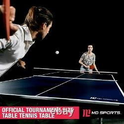 Ping Pong Taille Officielle De La Table 15mm Intérieur Pliable Tennis De Table Avec Accessoires