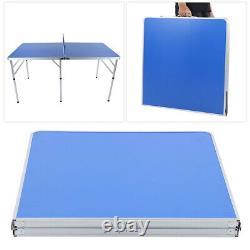 Ping Pong Tennis De Table Sports Pliant À L'intérieur À L'extérieur Avec Pagaie Et Balles