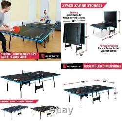 Ping Pong Tennis De Table Taille Officielle Indoor Outdoor 2 Paddles & New Balls