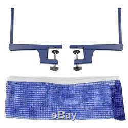 Ping Pong Tennis Net Table Avec Verrouillage Roulettes Pliable Intérieur Extérieur Utiliser Nouveau