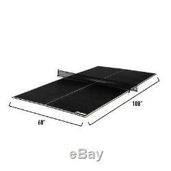 Ping-pong Table De Billard Top Tennis De Table De Conversion Top Game Lecture Black Portable