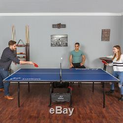 Ping-pong Tennis De Table Pliante Tournoi Taille Jeu Intérieur Lecture Avec Roues