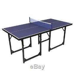 Ping-pong Tennis Game Jeu Intérieur-extérieur Team Portable New Pliable 6'x3'