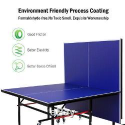 Pliable Concours-prêt De Tennis De Table Amovible Net Verrouillage Roulettes Fun