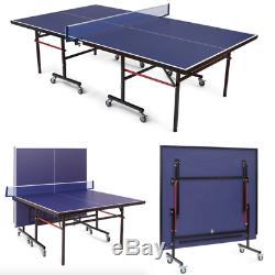 Pliable Intérieur / Extérieur Tennis De Table De Ping-pong Jeu Garage Avec Clamp Net