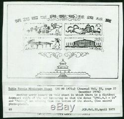 Pr Chine Imprimer 1961 Erreur C86m Tennis De Table Ms (bloc 7, Sg Ms 1971a) Tres Rare