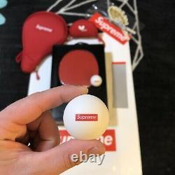 Racket Suprême De Tennis De Table Papillon Fw19 Bandana Box Logo Hoodie Bonnet