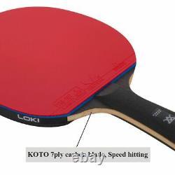 Raquette Professionnelle 9 Étoiles Ping Pong Paddle De Tennis De Table Pour Une Attaque Rapide Sticky