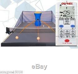 Robot De Tennis De Table Oukei Avec Télécommande Sans Fil Et 2 Roues De Lancement Autocoach