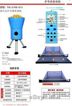 Robot De Tennis De Table Oukei E1a. Machine À Balles, Avec Filet! Expédier Dans Le Monde Entier