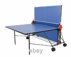 Sponeta S 1-43 E Blau IM Portier Tischtennisplatte Mit Hülle U Schlägerset