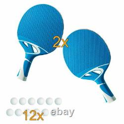 Sponeta S 5-70 E Grau IM Set Outdoor Tischtennisplatte Mit Hülle U Schlägerset