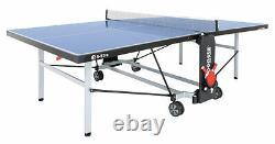 Sponeta S 5-73 E IM Portier Tischtennisplatte Blau Mit Hülle U Schlägerset