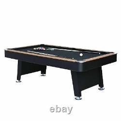 Stafford 7' Billards Table De Billard Avec Tennis De Table, Slide Hockey Et Cue Rack