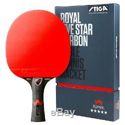 Stiga 5 Étoiles Royal Tennis De Table Racket Pingpong Bat Paddle Procarbon Highquality