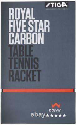 Stiga 5-star Royal Tennis De Table Ping Pong Bat Racket Paddle Nouvelle Haute Qualité