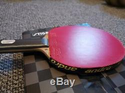 Stiga Carbonado 90 Tennis De Table Bat Avec Xiom Caoutchoucs
