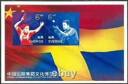 Suède 2013 Bloc De Tennis De Table Édition Spéciale Expo Beijing. Mnh