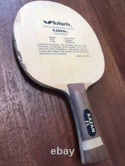 Super Rare Kazan (butterfly) Fl Papillon Noir Raquette De Tennis De Table