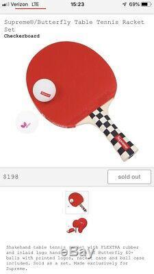 Suprême / Papillon Tennis De Table Racket Set + Free Box Suprême Logo Autocollant