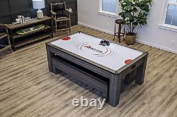 Table À Manger Atomic Northport 3-en-1 Avec Hockey Air-powered Et Tennis De Table