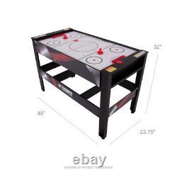 Table Aérienne Tennis Billiard Tableau 48 4-en-1 Accessoires Inclus