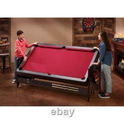 Table Air Hockey Tennis Billiard Jeu De Pool Tableau 7' 3-en-1 Accessoires Inclus