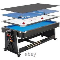 Table Black Multi Game Billard Avec Hockey, Tennis De Table Et Table À Manger