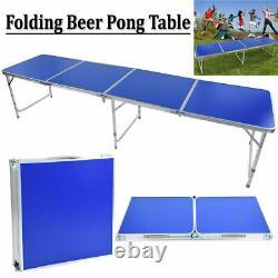 Table De Bière Pliable En Aluminium Pliable Portable Outdoor Indoor Game Party Us