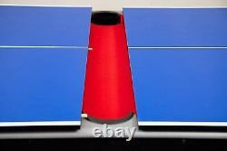 Table De Billard 7 Pieds + Plateau De Tennis De Table Inclus Billard + Ping Pong Accessoires