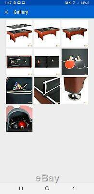 Table De Billard 7ft Arcade Jeu De Ping-pong