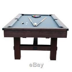 Table De Billard Salle De Jeux De 7,5 Pieds Billard Table Tennis Top Tous Les Accessoires Inclus