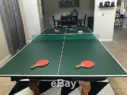 Table De Billard (paquet Total) Table De Billard En Ardoise 8 X 4 Avec Plateau De Tennis De Table