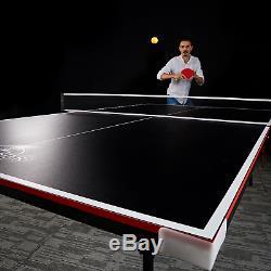 Table De Jeu De Ping-pong Intérieure De Tennis De Table Pliante De Taille Officielle Lancaster, 2 Pièces