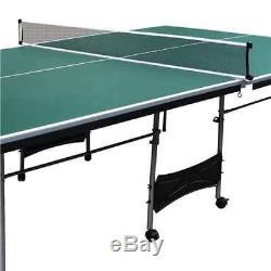 Table De Jeu De Ping-pong Pliante D'intérieur De Taille Officielle, 4 Pièces De Lancaster (boîte Ouverte)