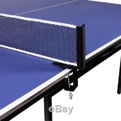 Table De Ping-pong 9ft Tennis Activités De Jeu En Plein Air Intérieur Jeu Jouer Sport Set