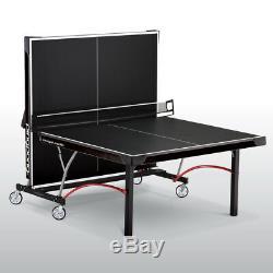 Table De Ping-pong De Taille Réglementaire Pliable, Table De Ping-pong Elite Ii, Avec Roulettes