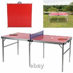Table De Ping-pong De Tennis De Table + Boules À Pagaie Pour Petits Espaces Intérieurs/extérieurs