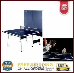 Table De Ping-pong De Tennis En Salle En Plein Air De Taille Officielle 2 Pagaies Et Balles Incluses