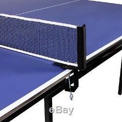 Table De Ping-pong Donnay Indoor Pleine Grandeur Bleue, 2 Battes + Balles