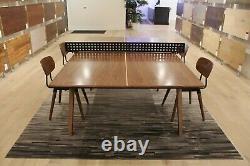 Table De Ping-pong En Noyer Moderne / Table À Manger Avec Filet De Fer