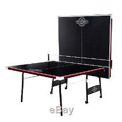 Table De Ping-pong Pliante 2 Pièces Lancaster Avec 2 Raquettes Et 3 Balles Orange