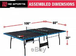 Table De Ping-pong Taille Officielle En Plein Air Tennis En Salle 2 Paddles Balls Sport Game