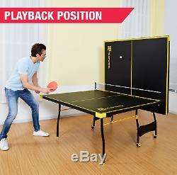 Table De Ping-pong Taille Officielle Pour Le Tennis Extérieur / Intérieur 2 Pagaies Et Balles Incluses