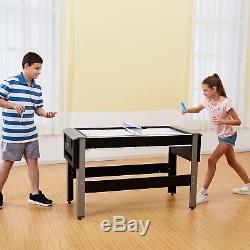 Table De Salle De Jeu Arcade Combo 4 En 1, Piscine De Tennis De Table De Bowling