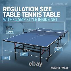 Table De Tennis De Ping-pong Professionnel, Intérieur, Pliable, Taille Réglementaire, Joola