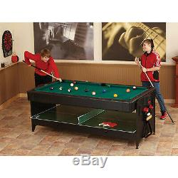 Table De Tennis De Table De Hockey Sur Table Air Hockey De Fat Cat Original Pockey 3-en-1 - Piscine / Billard