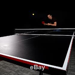 Table De Tennis De Table Pliante 2 Pièces Lancaster Avec 4 Raquettes Et 6 Balles De Ping Pong
