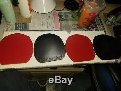 Table De Tennis En Caoutchouc Combo Pack. 4 Feuilles. Dignics, Adn, Victas, Xiom. Voir Plus